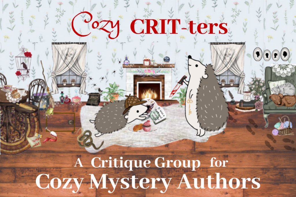 Cozy CRIT-ters - a Critique Group for Cozy Mystery Authors logo meeting notes abigailleighreed.com