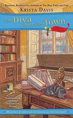 What I'm Reading - Krista Davis's THE DIVA PAINTS THE TOWN. #cozymystery #mystery #reading #KristaDavis #novel #TheDivaPaintsTheTown